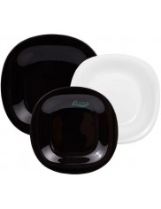 Komplet Obiadowy Czarno-Biały Neo Carine Luminarc (18 elementów)