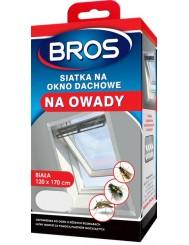 Bros Siatka Moskitiera na Okno Dachowe 120x170 cm Biała