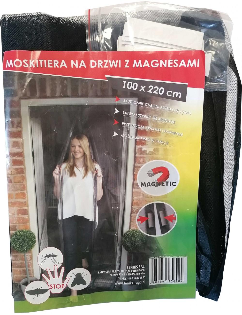 Siatka Moskietiera Na Drzwi z Magnesami 100x220 cm