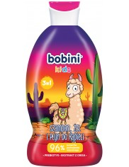 Bobini Szampon, Żel i Płyn do Kąpieli 3-w-1 Lama 330 ml