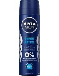 Nivea Dezodorant Spray dla Mężczyzn 48h Fresh Active 150 ml (DE)