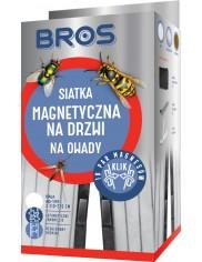 Bros Siatka Magnetyczna na Drzwi Przeciw Owadom Biała (80-100 x 210-220 cm) 1 szt