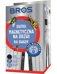 Bros Siatka Magnetyczna na Drzwi Przeciw Owadom Czarna (80-100 x 210-220 cm) 1 szt