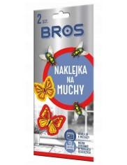 Bros Naklejki Na Muchy 2szt – estetyczne, z substancją czynną do zwalczania much