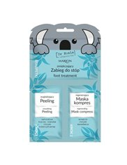 Marion Zmiękczający Zabieg do Stóp Peeling + Maska 12,5 ml