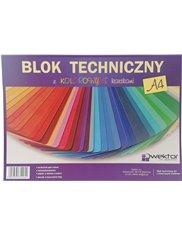 Blok Techniczny A4 z Kolorowymi Kartkami Różne Wzory Okładek (8 kartek) 1 szt