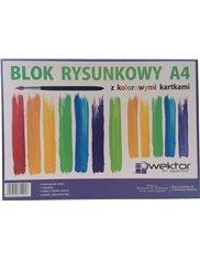 Blok Rysunkowy A4 z Kolorowymi Kartkami 1 szt