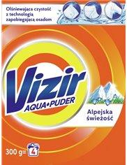 Vizir Alpejska Świeżość Skoncentrowany Proszek do Prania Tkanin Białych i Jasnych 300 g (4 prania)
